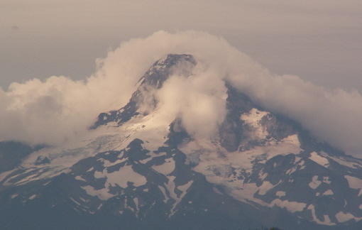 Mt Hood gray clouds